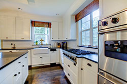 black granite white cabinets Granite kitchen - Mesa Mesa