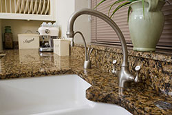 white undermount sink Granite kitchen Affordable Granite AZ